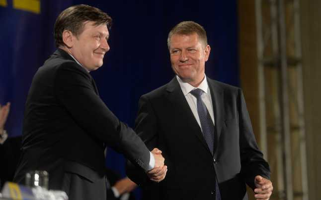 Image result for crin antonescu iohannis