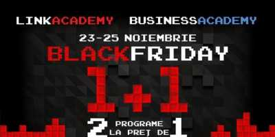 Oferta de Black Friday la LINK Academy şi BusinessAcademy: 2 programe la preţ de 1