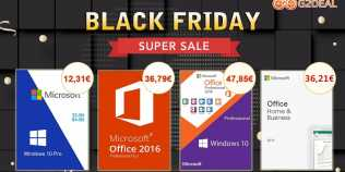 Black Friday Super Sale: Windows 10 Pro la 12,31 € şi Office 2016 Pro la 36,79 €!